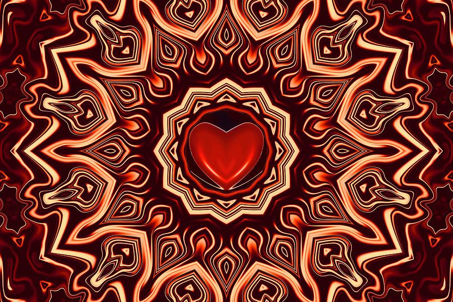 Heart In Flames Digital Art