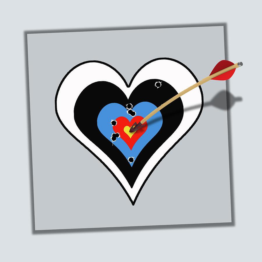 Heart Love Bullseye Painting