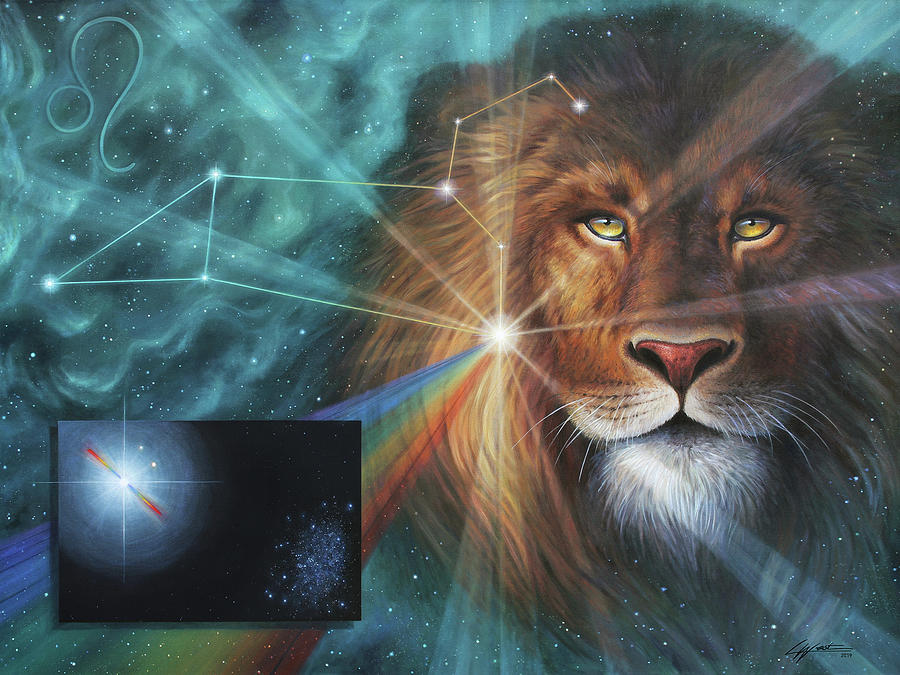 Heart of the Lion - Leo Constellation by Lucy West