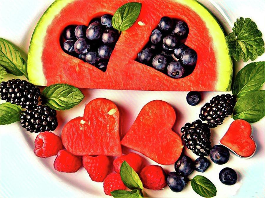 Heart Of The Melon Mixed Media