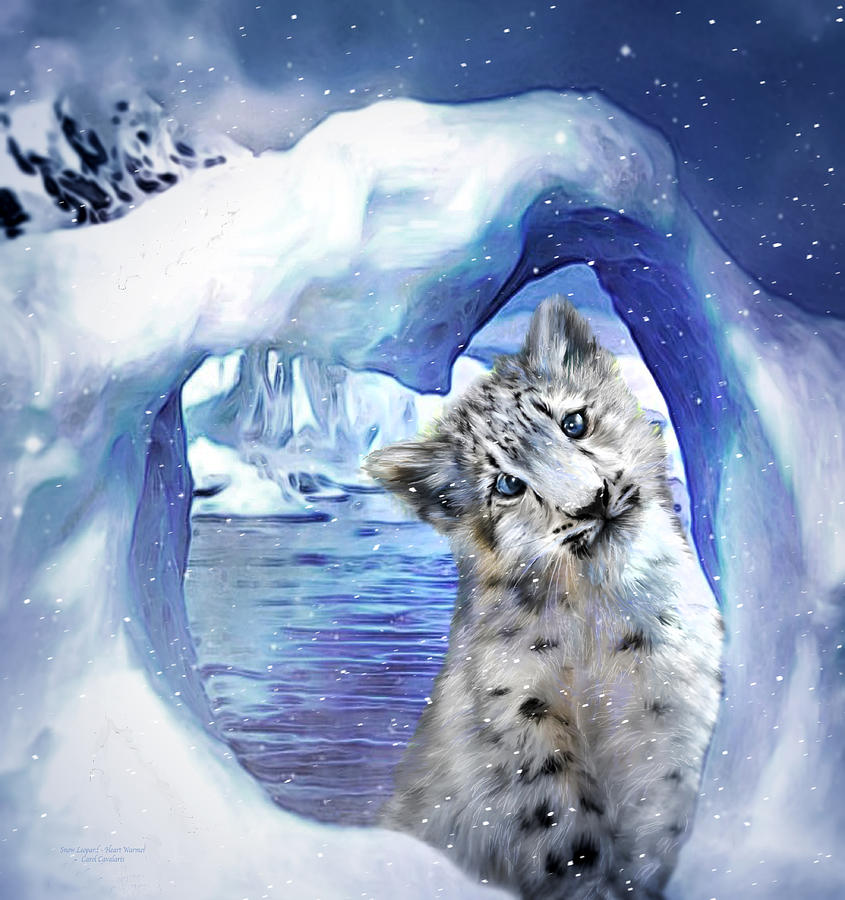 Heart Warmer - Snow Leopard by Carol Cavalaris