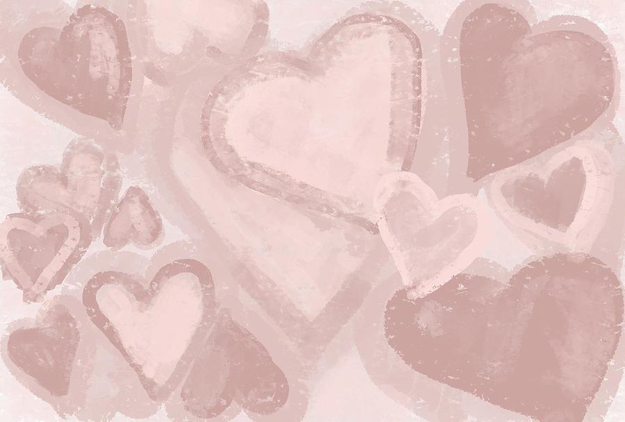 Hearts Patterns Design - Caramel Tones by Patricia Awapara