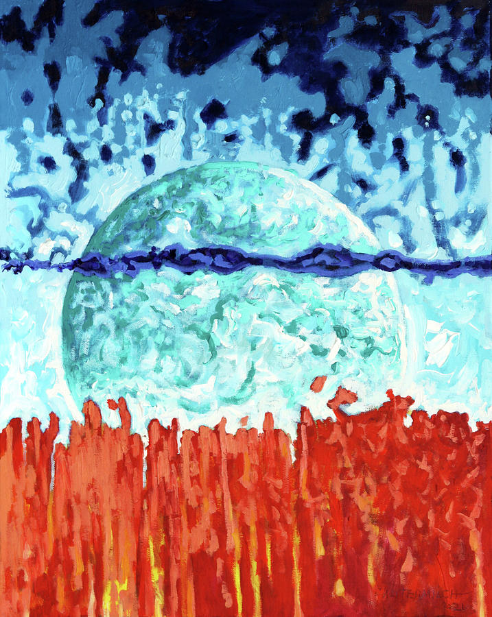 Earth Painting - Heat Waves by John Lautermilch