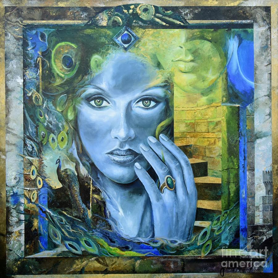 Portrait Painting - Heavenly Garden by Sinisa Saratlic