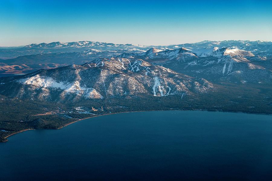 Heavenly Lake Tahoe Aerial by Brad Scott