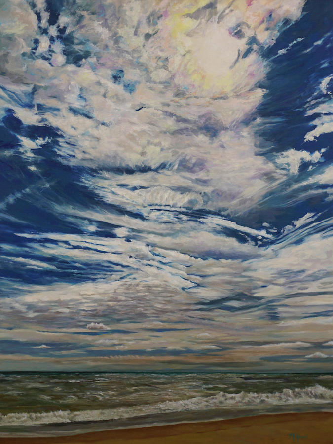 Cloudscape Painting - Heavens by Morgan Adams