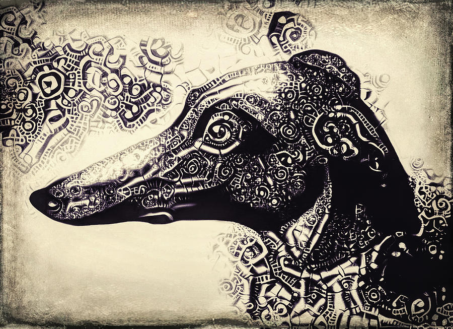 Heavy Metal Greyhound Digital Art