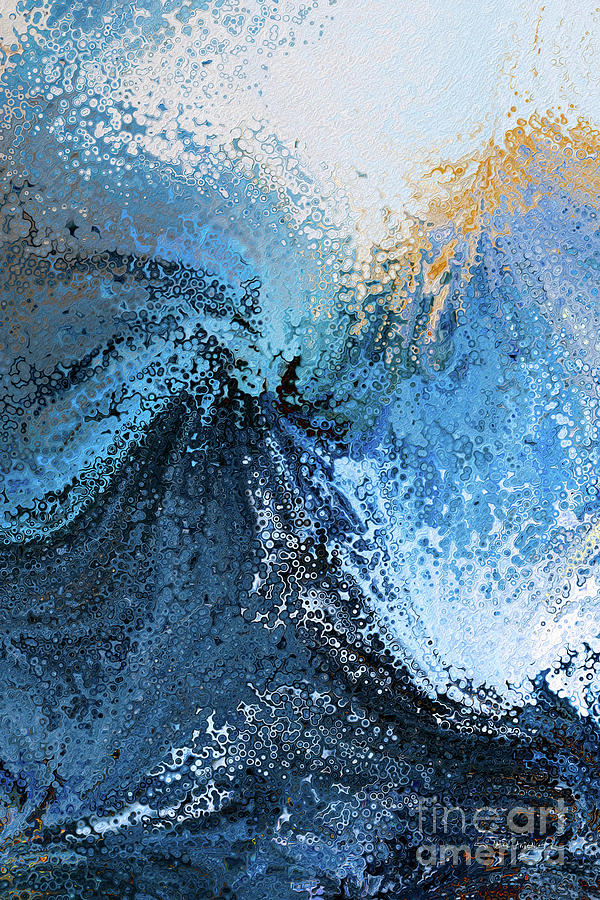 Blue Painting - Hebrews 10 23. Hold Fast. by Mark Lawrence