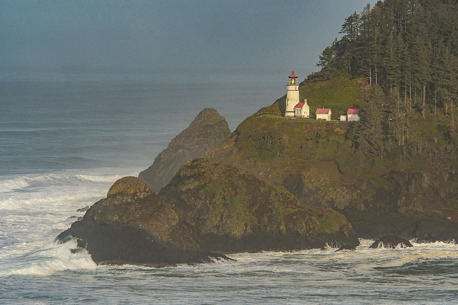 Heceta Lighthouse in the Morning by Matthew Irvin