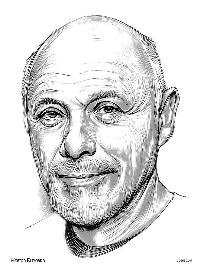 Hector Elizondo 2 Drawing