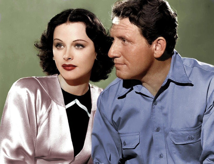 Hedy Lamarr And Spencer Tracy Photograph