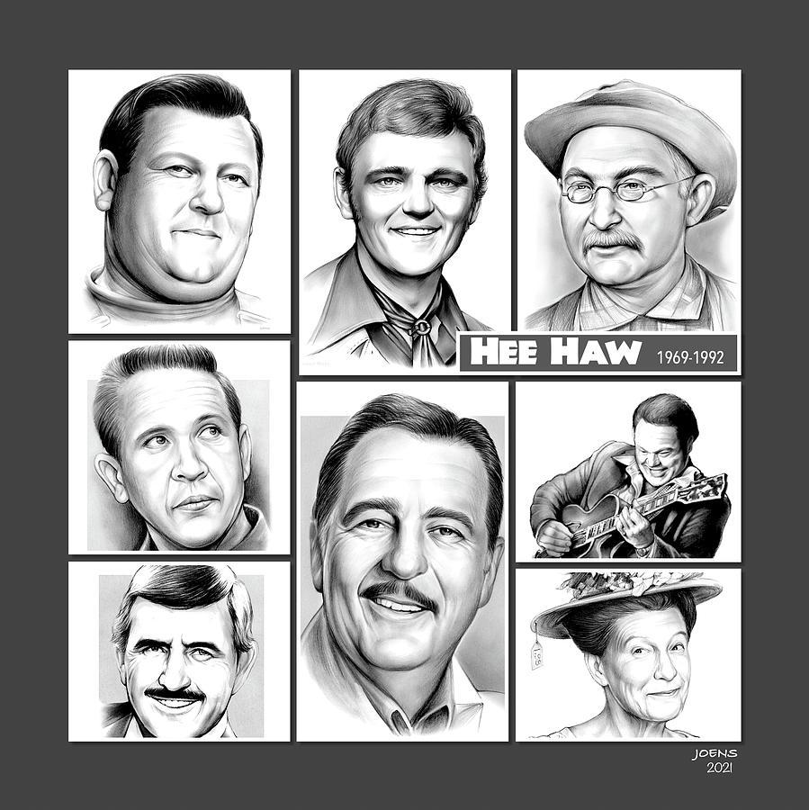 Country Music Drawing - Hee Haw Gang by Greg Joens