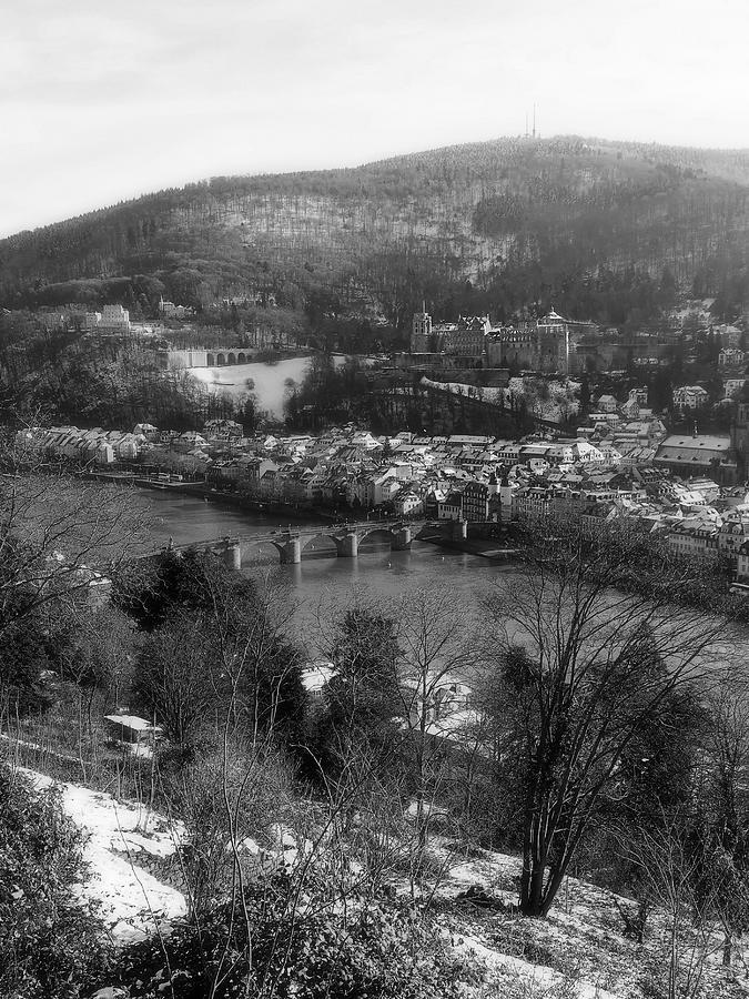 Heidelberg Photograph - Heidelberg Castle - Monochrome by Jussi Laasonen