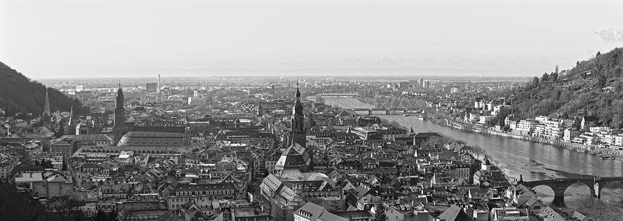 Heidelberg Photograph - Heidelberg Old Town - Monochrome by Jussi Laasonen