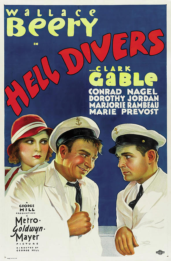Hell Mixed Media - Hell Divers 2, with Wallace Beery and Clark Gable, 1932 by Stars on Art