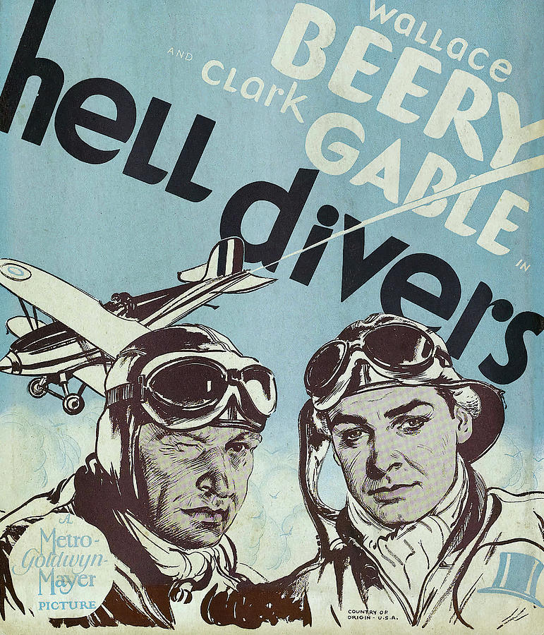 hell Divers, With Wallace Beery And Clark Gable, 1932 Mixed Media