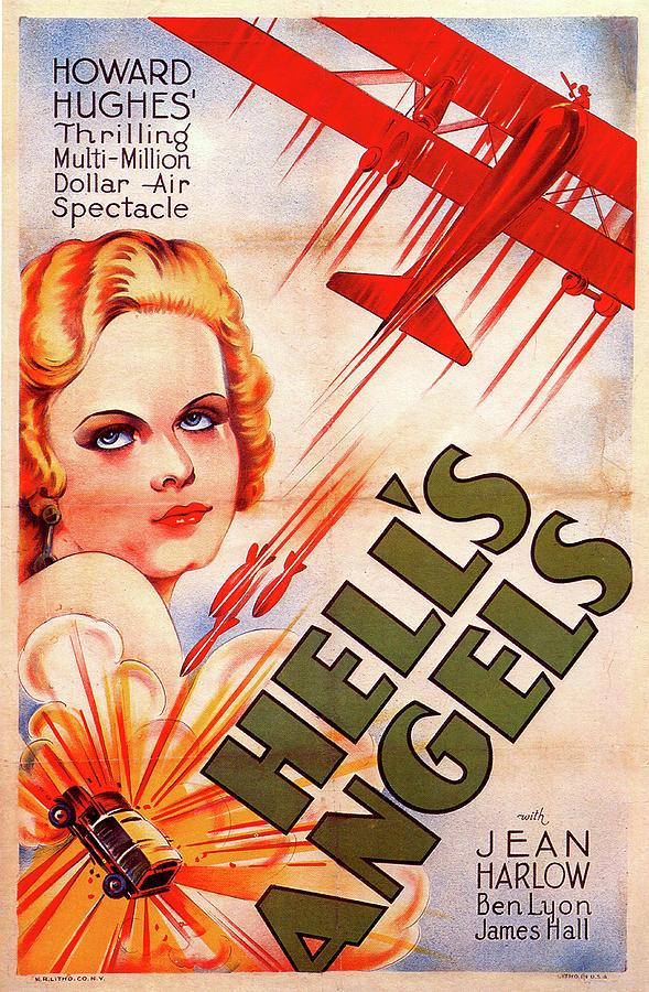 hells Angels Movie Poster 1930 Mixed Media