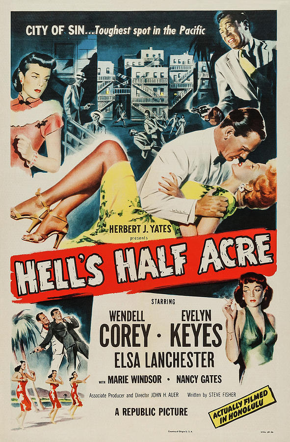 hells Half Acre, With Wendell Corey And Evelyn Keyes, 1952 Mixed Media