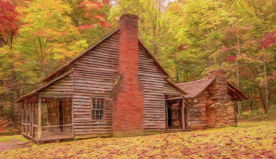 Henry Whitehead Homestead in Autumn by Marcy Wielfaert