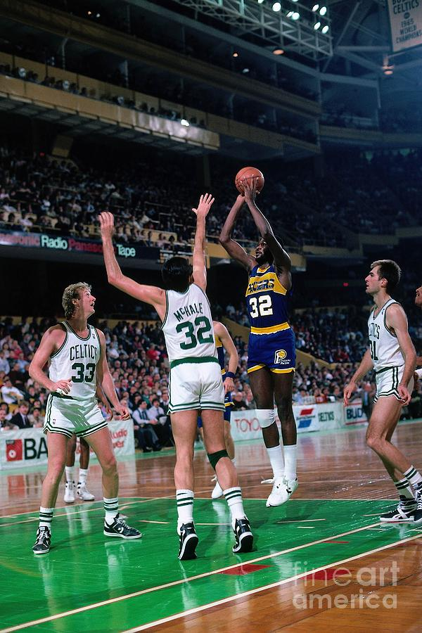Herb Williams, Larry Bird, and Kevin Mchale Photograph by Dick Raphael
