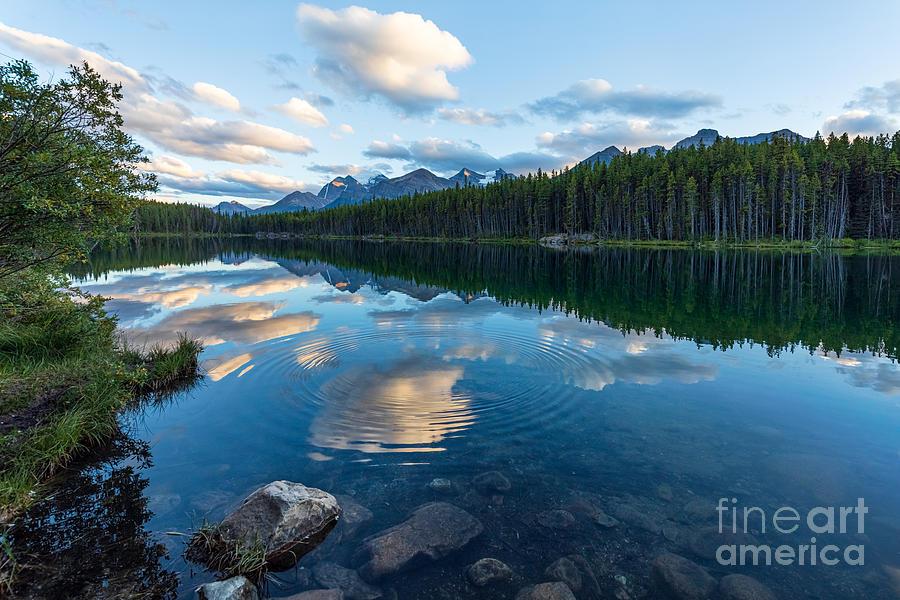 Herbert Lake Ripples and Rock by Alma Danison