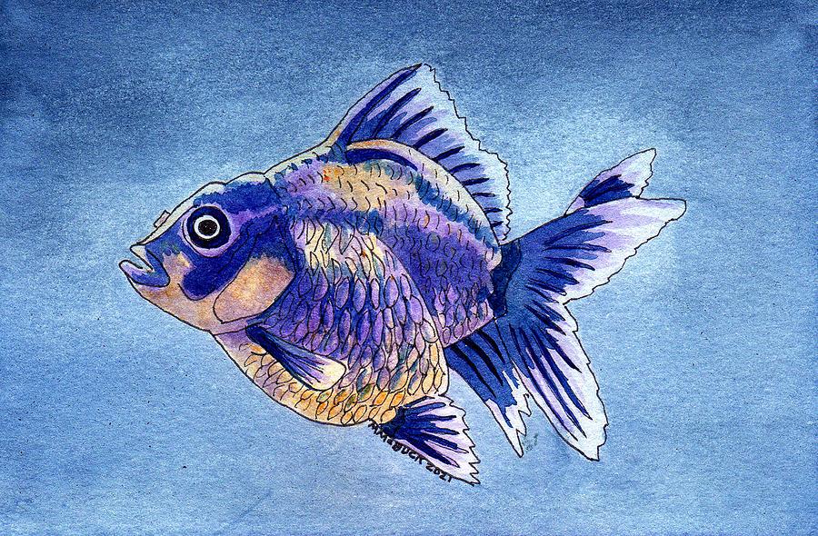 Here Fishy, Fishy Mixed Media
