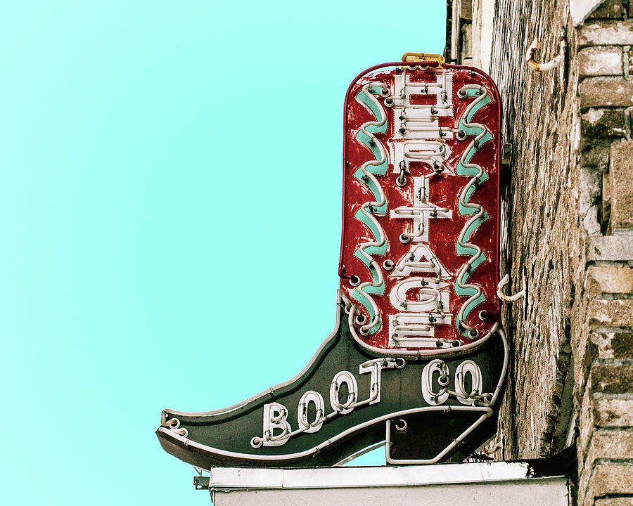 Heritage Boot Co. Vintage Neon Sign by Gigi Ebert