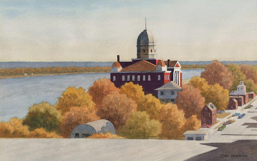 Hermann, Missouri Painting by Stan Masters