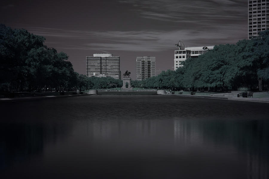Hermann Park Statue in Infrared by Joshua House