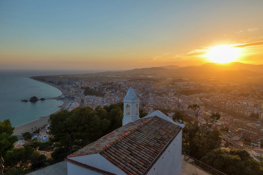 Blanes Photograph - Hermitage And Views Of Blanes At Sunset, Costa Brava, Spain by Vicen Photography