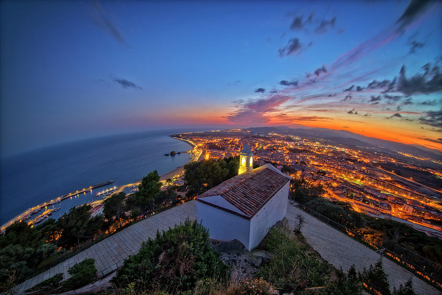 Blanes Photograph - Hermitage And Views Of Blanes At Sunset by Vicen Photography