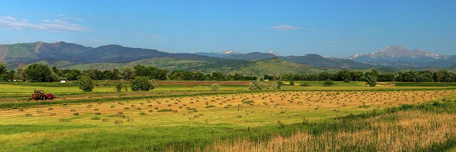 Hey Hey Hay Tractor Twin Peaks Panorama Photograph