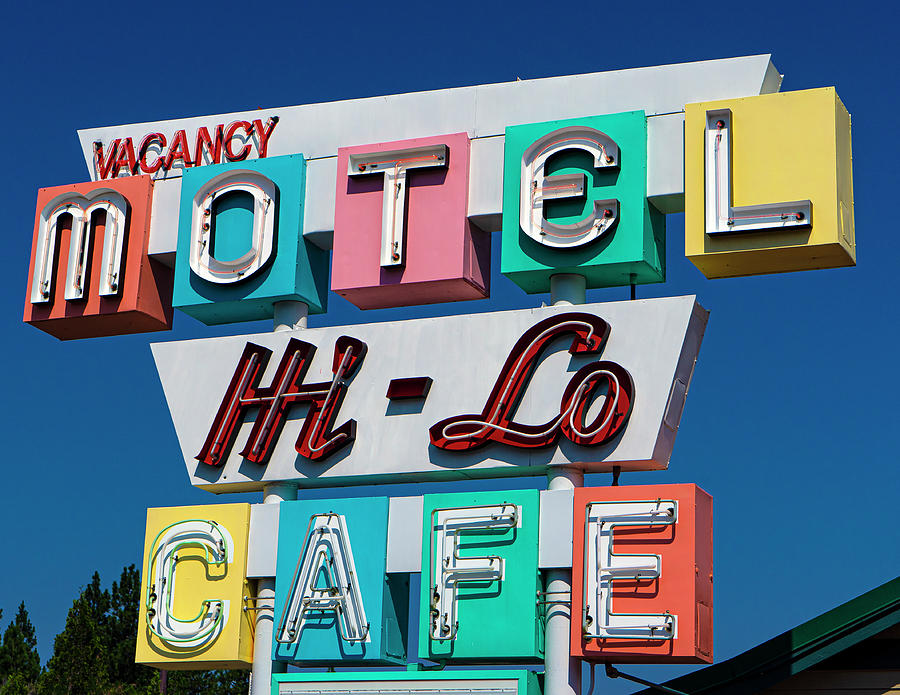 Weed Photograph - HI-Lo Motel in Weed, California by Matthew Bamberg