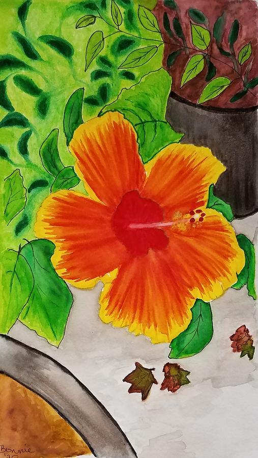 Flower Mixed Media - Hibiscus by Bonnie McKeegan