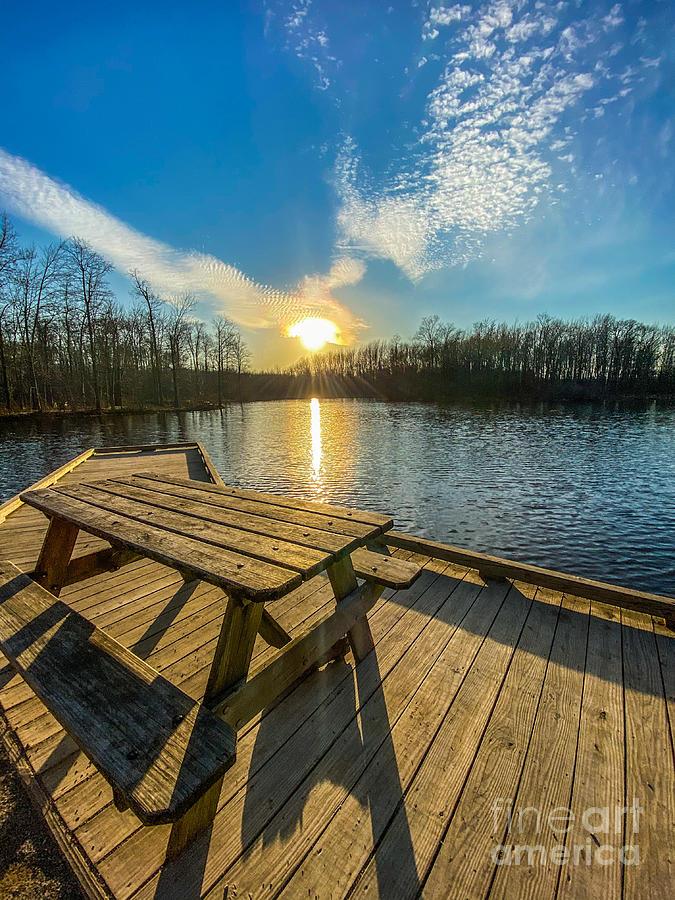 Hidden Lake Picnic Photograph