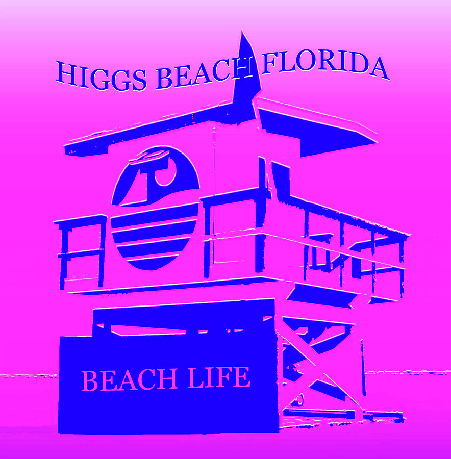Beach Mixed Media - Higgs Beach Florida by David Lee Thompson