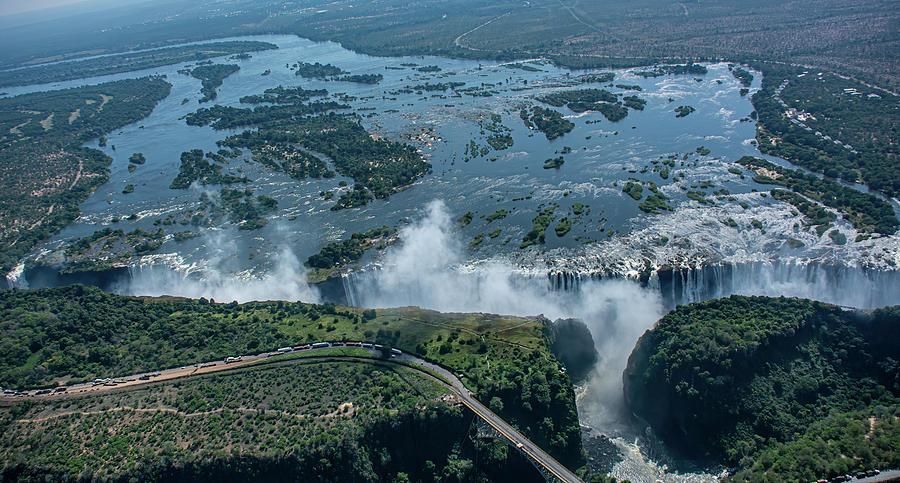 High Above Victoria Falls by Douglas Wielfaert