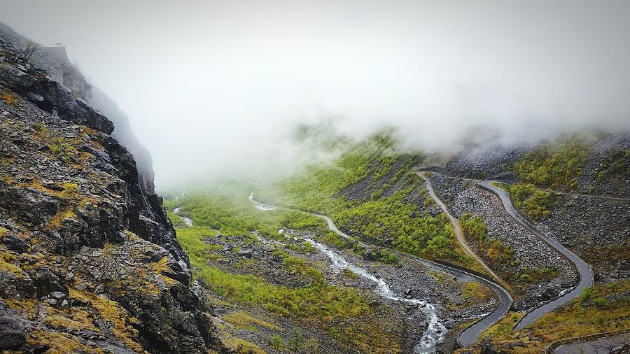 High Angle View Of Trollstigen During Foggy Weather Photograph by Danny Williams / EyeEm