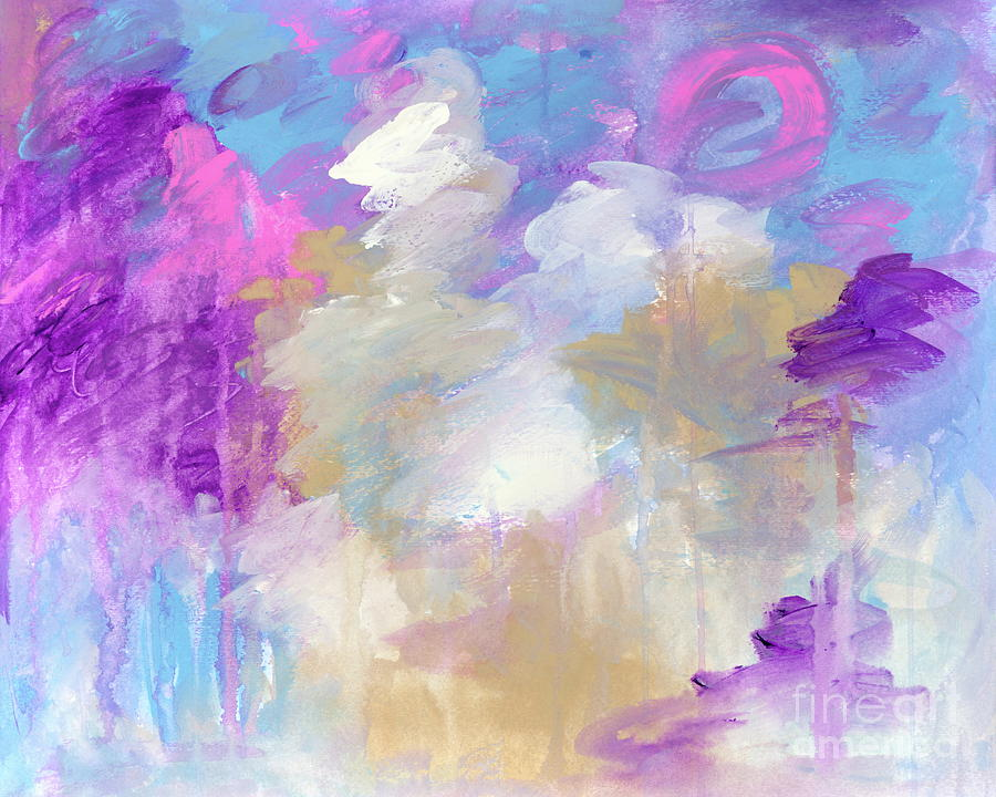 High Hopes Painting - High Hopes Abstract Expressionist Painting by Itaya Lightbourne