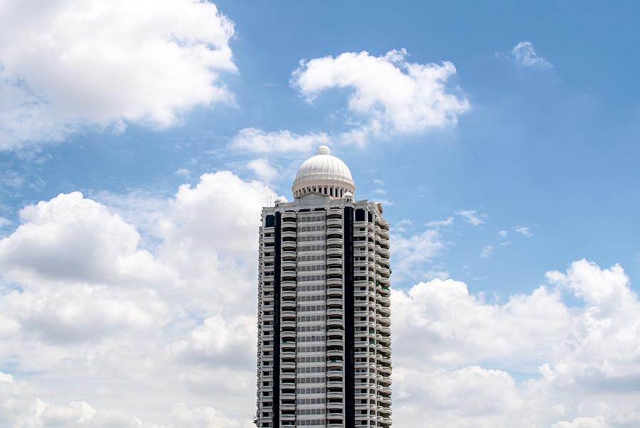 High-Section Of Skyscraper With White Dome On Top Photograph by Pulperm Phungprachit / EyeEm