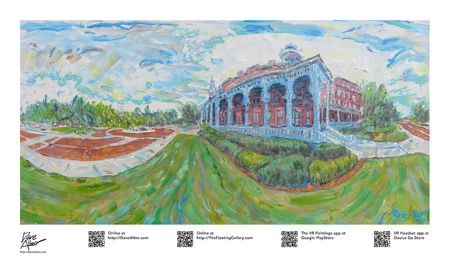 Wonder Painting - Higher Resilient Americana Education Plant Hall at the University of Tampa by Dave Alber