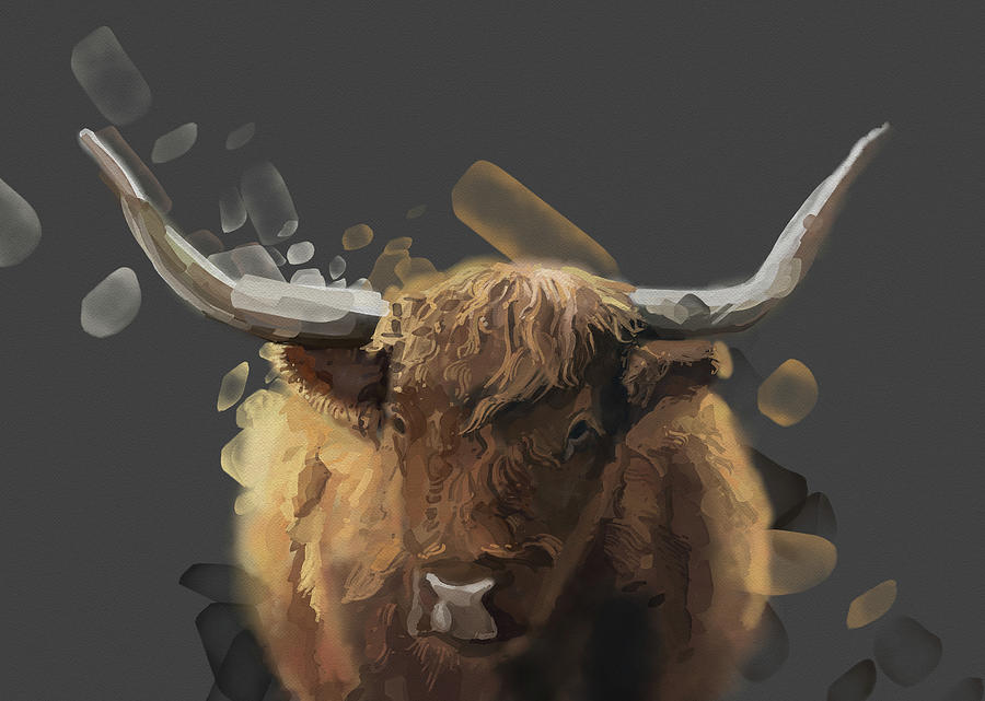 Highland Cattle V2 Digital Art