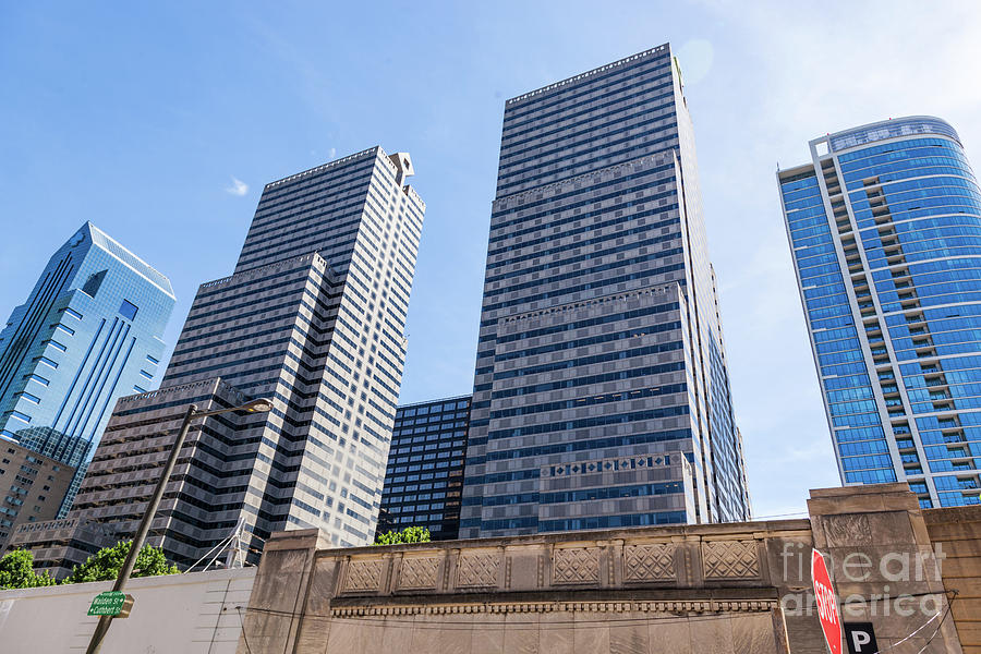 Highrise Buildings In Philadephia, Usa Downtown. Photograph