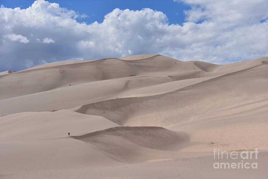Hiking The Great Sand Dunes, Colorado Photograph