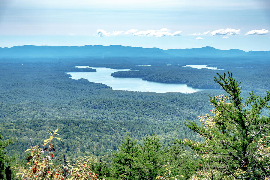 Hiking Wolfpit Traiolhead In Linville Gorge Near Lake James Photograph