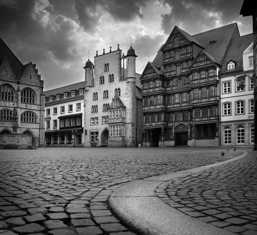 Hildesheim Marktplatz And Cobblestones Photograph