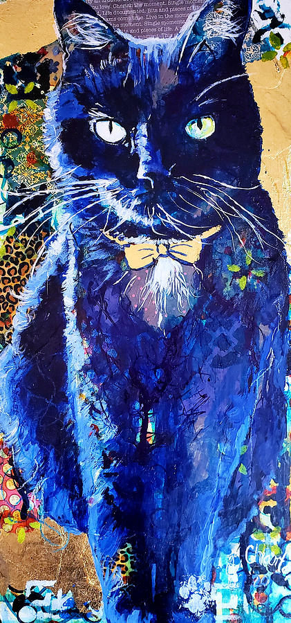 Cat Painting - His Majesty by Goddess Rockstar