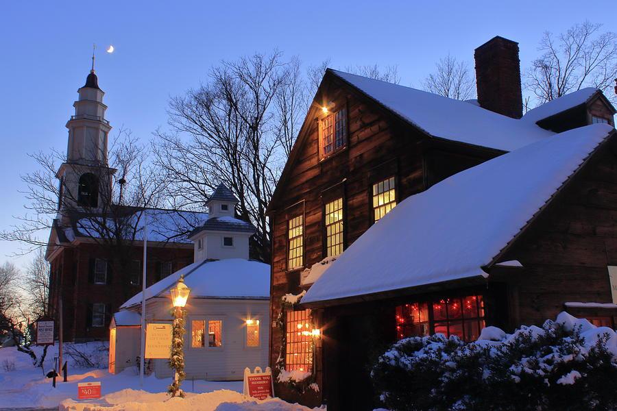 Historic Deerfield Winter Evening Photograph