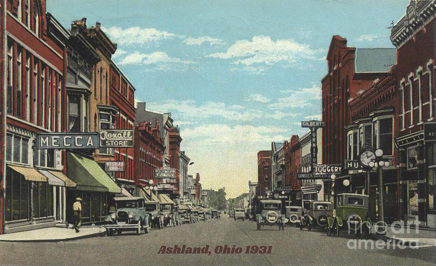 Historic Postcard Ashland, Ohio 1931 Photograph