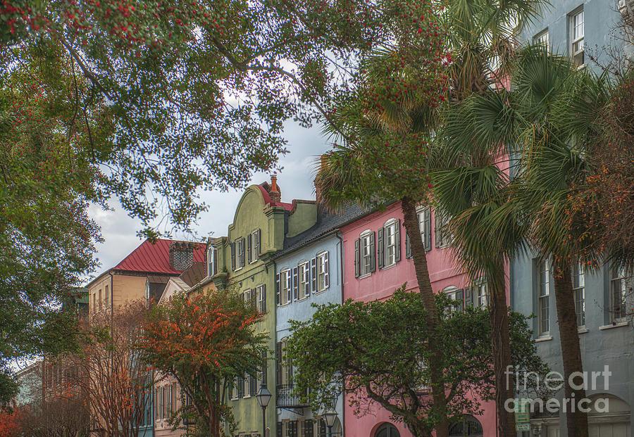 Historic Rainbow Row In Charleston South Carolina Photograph